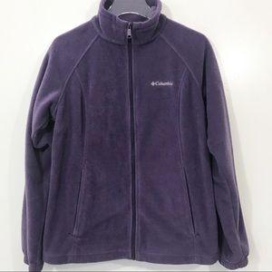 Columbia Women's Purple Fleece Full Zip Jacket